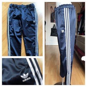 Adidas Jogginghose Samt Blau Weiß M unisex