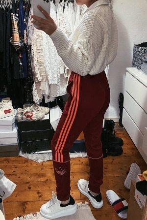 Adidas Jogginghose Sporthose burgundy bordeuxrote rot Logo NEU