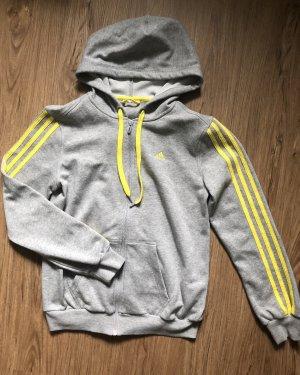Adidas Kurtka z kapturem jasnoszary-żółty