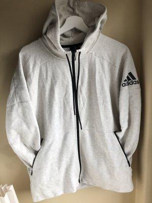 Adidas Giacca con cappuccio grigio chiaro