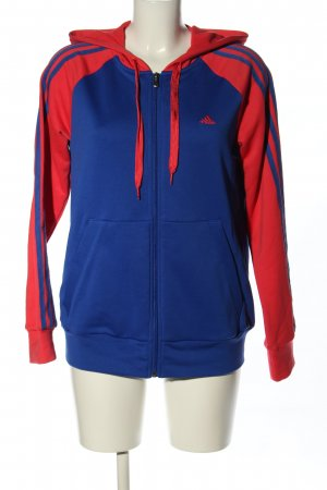 Adidas Giacca con cappuccio blu-rosso stile casual