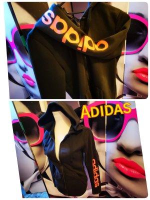 Adidas Veste à capuche gris foncé-noir