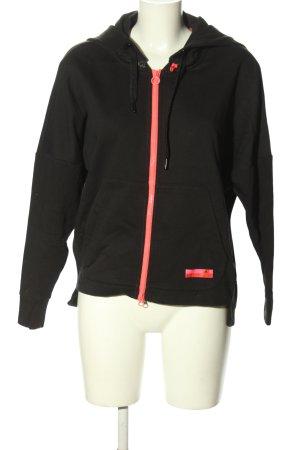 Adidas Kurtka z kapturem czarny W stylu casual