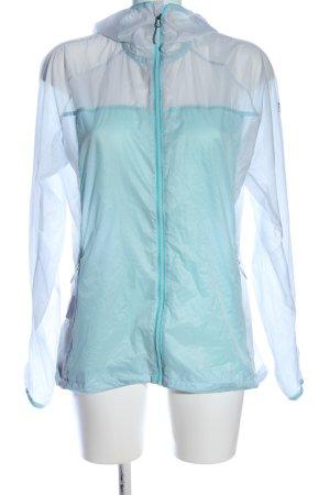 Adidas Kurtka z kapturem turkusowy-jasnoszary W stylu casual