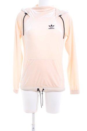 Adidas Kapuzenpullover creme-schwarz Casual-Look