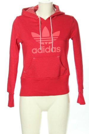 Adidas Pull à capuche rose style décontracté