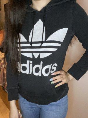 Adidas Hooded Sweater white-black