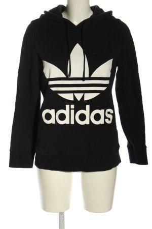 Adidas Kapuzenpullover schwarz-weiß Casual-Look