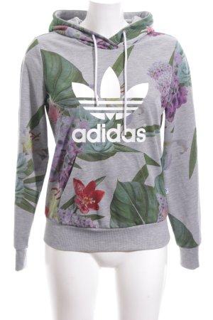 Adidas Kapuzenpullover Blumenmuster Casual-Look