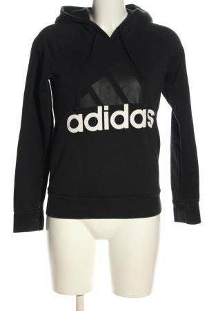 Adidas Jersey con capucha negro-blanco estampado temático look casual