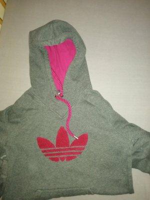 Adidas Jersey con capucha gris-magenta