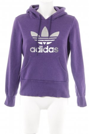 Adidas Kapuzenpullover lila sportlicher Stil