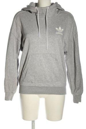 Adidas Kapuzensweatshirt hellgrau Casual-Look