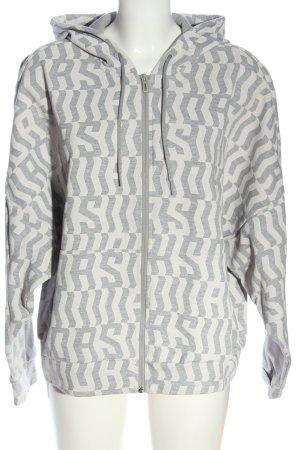 Adidas Bluza z kapturem jasnoszary-biały W stylu casual