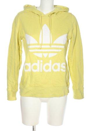 Adidas Kapuzensweatshirt blassgelb-weiß Casual-Look