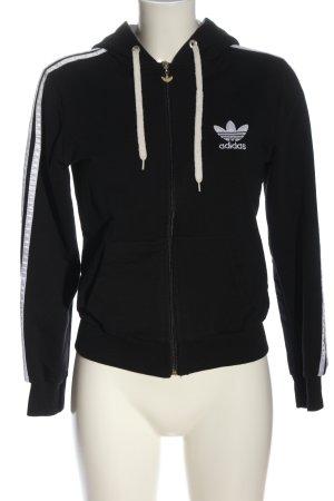 Adidas Sudadera con capucha negro letras impresas estilo deportivo