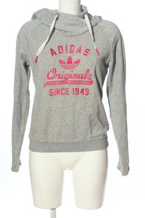 Adidas Hooded Sweatshirt light grey-pink flecked casual look