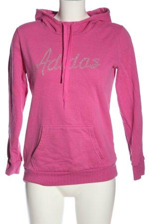 Adidas Sweat à capuche rose style décontracté