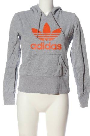 Adidas Kapuzensweatshirt hellgrau-hellorange meliert Casual-Look
