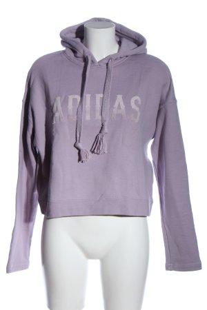 Adidas Kapuzensweatshirt lila Casual-Look
