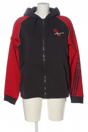 Adidas Kapuzensweatshirt braun-rot Motivdruck Casual-Look