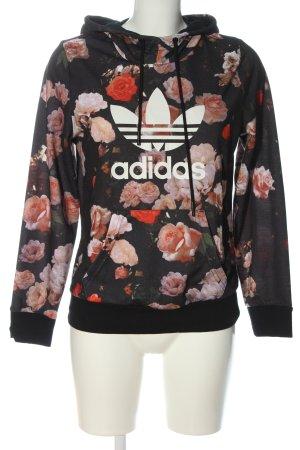 Adidas Kapuzensweatshirt schwarz Allover-Druck sportlicher Stil