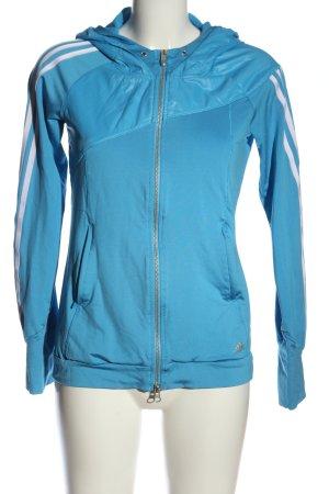 Adidas Bluza z kapturem niebieski-biały Sportowy styl