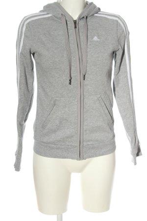 Adidas Hooded Sweatshirt light grey flecked casual look