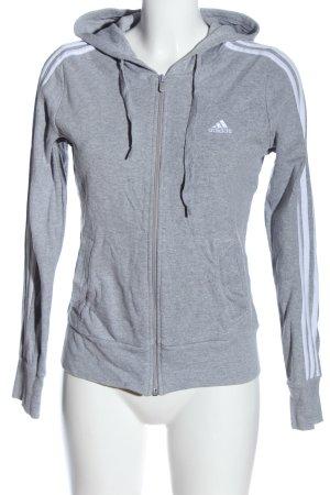 Adidas Kapuzensweatshirt hellgrau-weiß Casual-Look