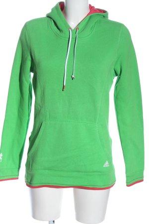 Adidas Bluza z kapturem zielony-czerwony W stylu casual