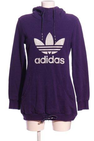Adidas Hooded Sweatshirt lilac printed lettering casual look