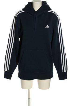 Adidas Bluza z kapturem niebieski-biały W stylu casual