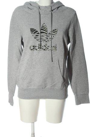 Adidas Bluza z kapturem jasnoszary Melanżowy W stylu casual