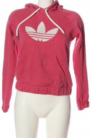 Adidas Kapuzensweatshirt pink-wollweiß meliert Casual-Look
