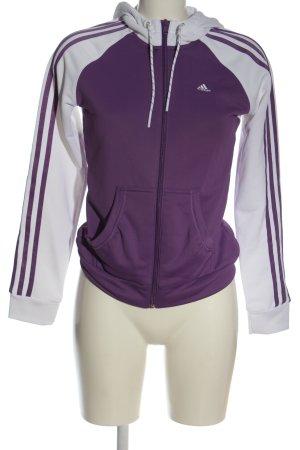 Adidas Sweatshirt met capuchon lila-wit casual uitstraling