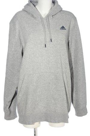 Adidas Kapuzensweatshirt hellgrau-schwarz meliert Casual-Look