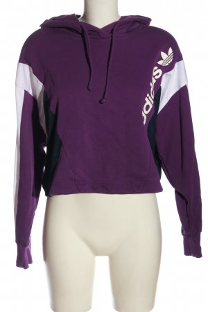 Adidas Kapuzensweatshirt lila-weiß Casual-Look