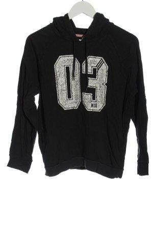 Adidas Kapuzensweatshirt schwarz Schriftzug gedruckt Casual-Look