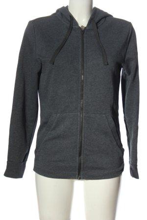 Adidas Kapuzensweatshirt hellgrau-rot meliert Casual-Look
