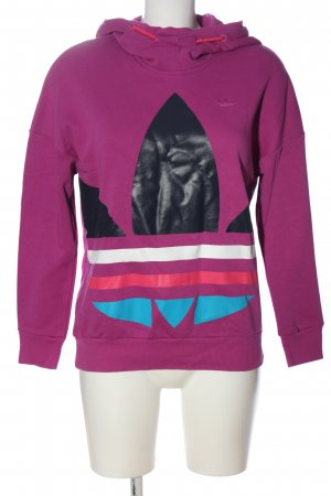 Adidas Sweat à capuche rose imprimé avec thème style décontracté