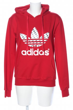 Adidas Sweatshirt met capuchon rood casual uitstraling