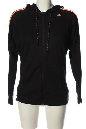 Adidas Kapuzensweatshirt schwarz-hellorange Schriftzug gedruckt Casual-Look