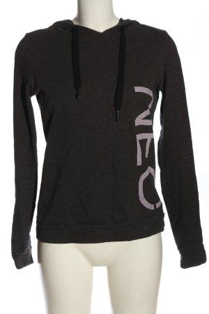 Adidas Sweat à capuche gris clair-crème lettrage imprimé style décontracté
