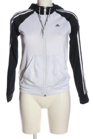 Adidas Bluza z kapturem czarny-biały Wydrukowane logo W stylu casual