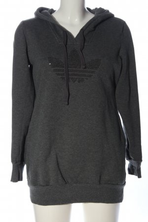 Adidas Bluza z kapturem czarny Melanżowy W stylu casual