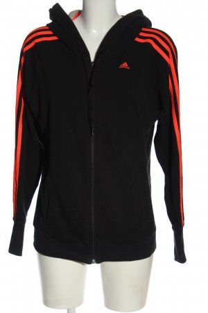 Adidas Kapuzensweatshirt schwarz-rot Motivdruck Casual-Look
