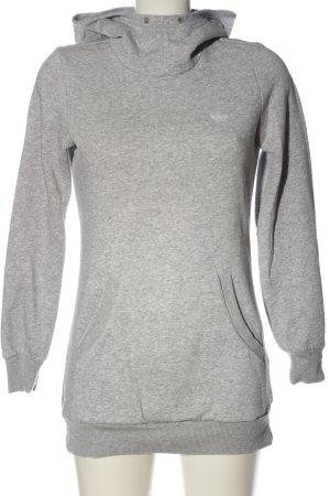 Adidas Kapuzensweatshirt hellgrau meliert Casual-Look