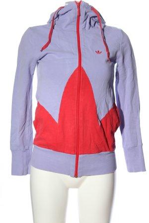 Adidas Bluza z kapturem jasnoszary-czerwony Sportowy styl