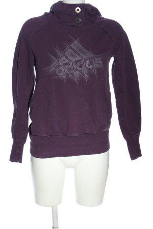 Adidas Kapuzensweatshirt lila-weiß Motivdruck Casual-Look