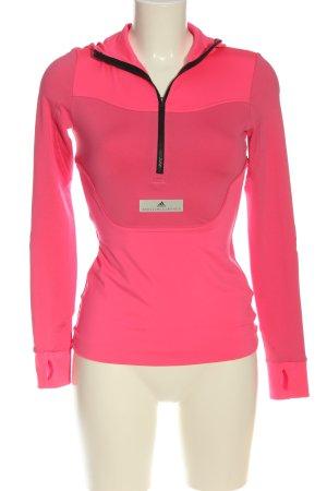 Adidas Camicia con cappuccio rosa-nero stile atletico